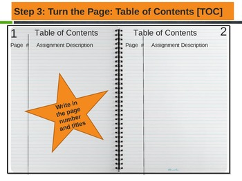 Interactive Notebook PowerPoint For Students on how to set it up
