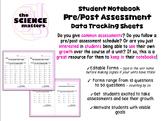 Interactive Notebook Pre/Post Assessment Tracker/Reflectio