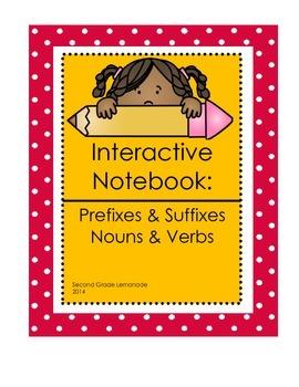 Interactive Notebook: Nouns, Verbs, Prefixes and Suffixes