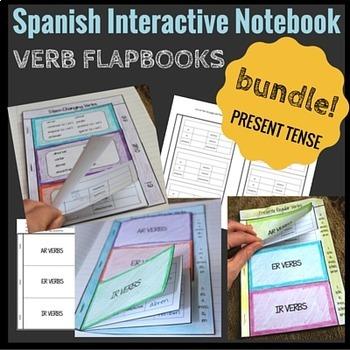Interactive Notebook Present Tense Verbs Flapbook BUNDLE