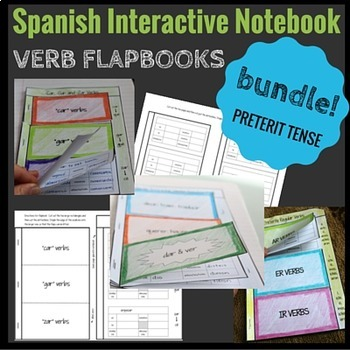 Interactive Notebook Preterite Verbs Flapbook BUNDLE