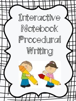 Interactive Notebook Procedural Writing
