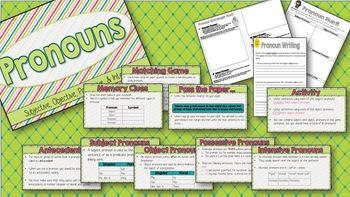 Interactive Notebook: Pronouns - Subjective, Objective, Possessive, & Intensive