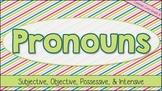 Interactive Notebook: Pronouns - Subjective, Objective, Po