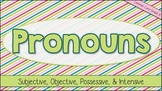 Interactive Notebook: Pronouns - Subjective, Objective, Po