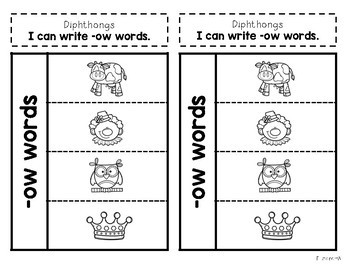 Interactive Notebook: R-Controlled Vowels and Diphthongs