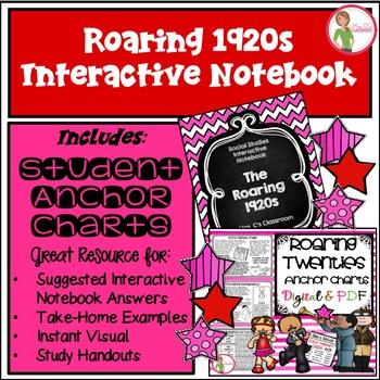 Interactive Notebook - ROARING 20s (1920 / TWENTIES) - Social Studies (Gr. 3-6)
