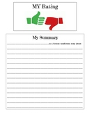 Interactive Notebook Rating/Summary Form