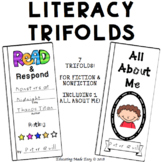 Read & Response Trifold for Interactive Notebooks