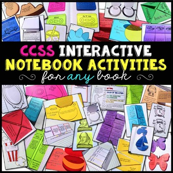 Interactive Notebook Reading Literature Pack for Any Novel or Story