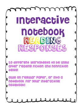 Interactive Notebook Reading Responses