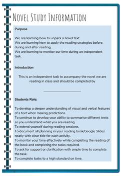 Interactive Notebook - Reading Strategies for Novel Study