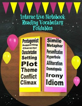 Interactive Notebook Reading Vocabulary Foldables