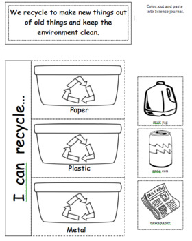 Interactive Notebook- Recycle