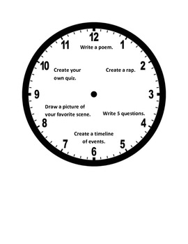 Interactive Notebook Response to Reading Clock