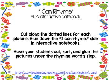Interactive Notebook Rhyming