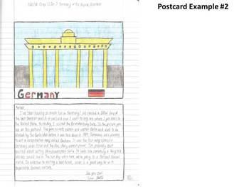 Geography Interactive Notebook Activity Idea-Postcard