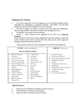 Interactive Notebook Rubric #1