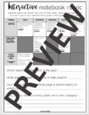 Interactive Notebook Rubric *EDITABLE*