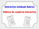 Interactive Notebook Rubric - English & Spanish
