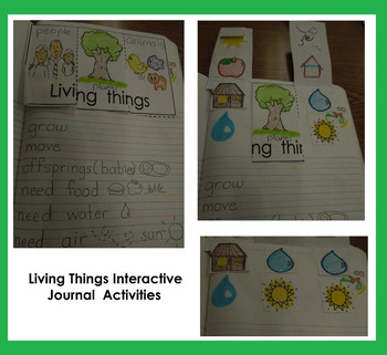 Interactive Notebook Science-Living and Nonliving things  (English only)