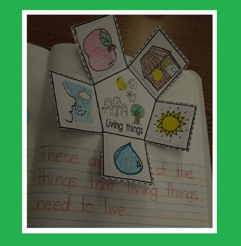 Interactive Notebook Science-Living and Nonliving things (Spanish and English)