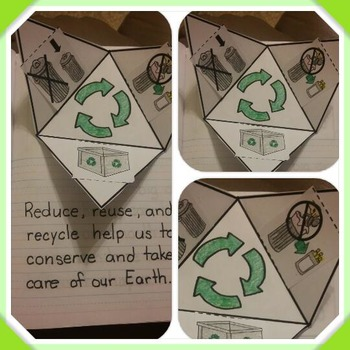 Interactive Notebook Science-Reduce Reuse and Recycle (Spanish and English)