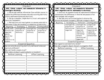 Interactive Notebook Science Standards and Can Do Descriptors
