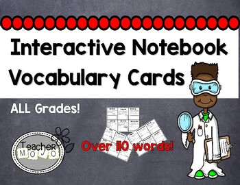 Interactive Notebook Science Vocabulary Cards (Printables)