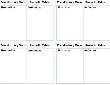Interactive Notebook Science Vocabulary Cards Set 2