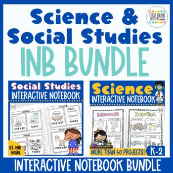 Interactive Notebook Science and Social Studies Bundle K-2