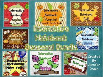 Interactive Notebook: Seasonal & Holidays BUNDLE! 8 Full P