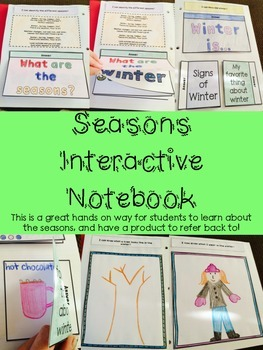 Interactive Notebook: Seasons