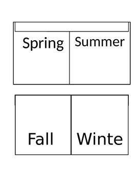 Interactive Notebook Seasons in Spanish
