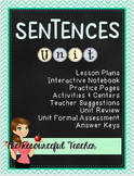 Interactive Notebook Sentences Unit with Lesson Plans
