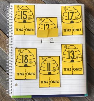Interactive Notebook Set 6:  Kindergarten Numbers and Operations in Base Ten
