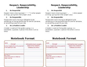 Interactive Notebook Set-Up 2018