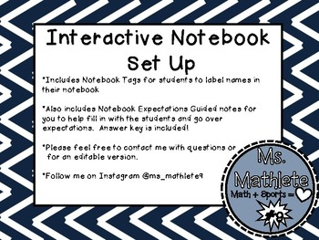 Interactive Notebook Set Up