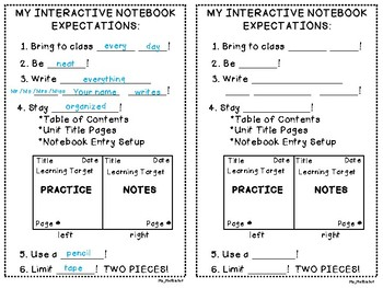 Interactive Notebook Set Up