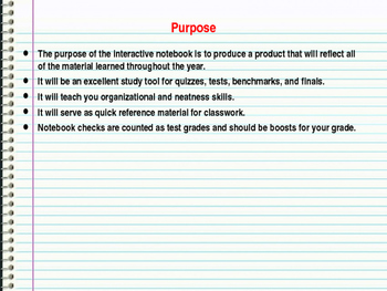 Interactive Notebook Set Up & Note-taking Skills