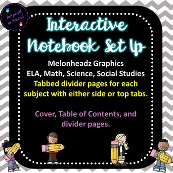 Interactive Notebook Set Up With Subject Covers and Dividers