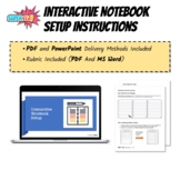 Interactive Notebook Setup Instructions - PDF and PPT