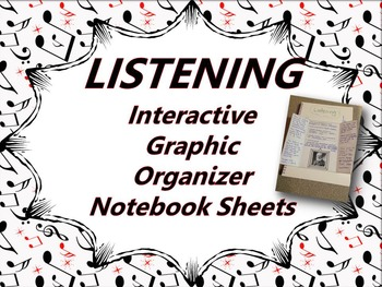 Interactive Notebook Sheets for Music Listening Activities