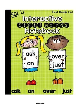 Interactive Notebook Sight Words First Grade List Set 4 (a