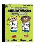 Interactive Notebook Sight Words First Grade List Set 7 (by, after, think, let)