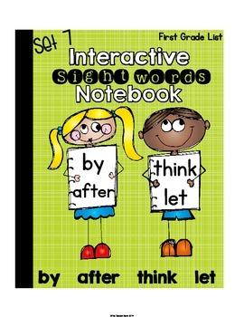 Interactive Notebook Sight Words First Grade List Set 7 (b