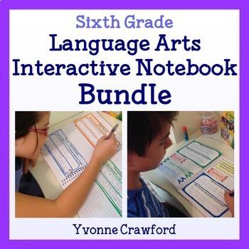 Interactive Notebook Sixth Grade Common Core Bundle - English Language Arts