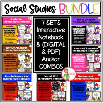 Interactive Notebook Social Studies - Bundle 1  {Grades 3-5}