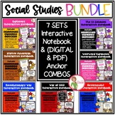 (7) Social Studies INTERACTIVE NOTEBOOKS & (7) ANCHOR CHART SETS  - BUNDLE 1