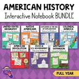 Interactive Notebook American History Bundle 5th Grade 7 Units U.S. History